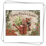 EnF-002 glish Flower Garden Red Can